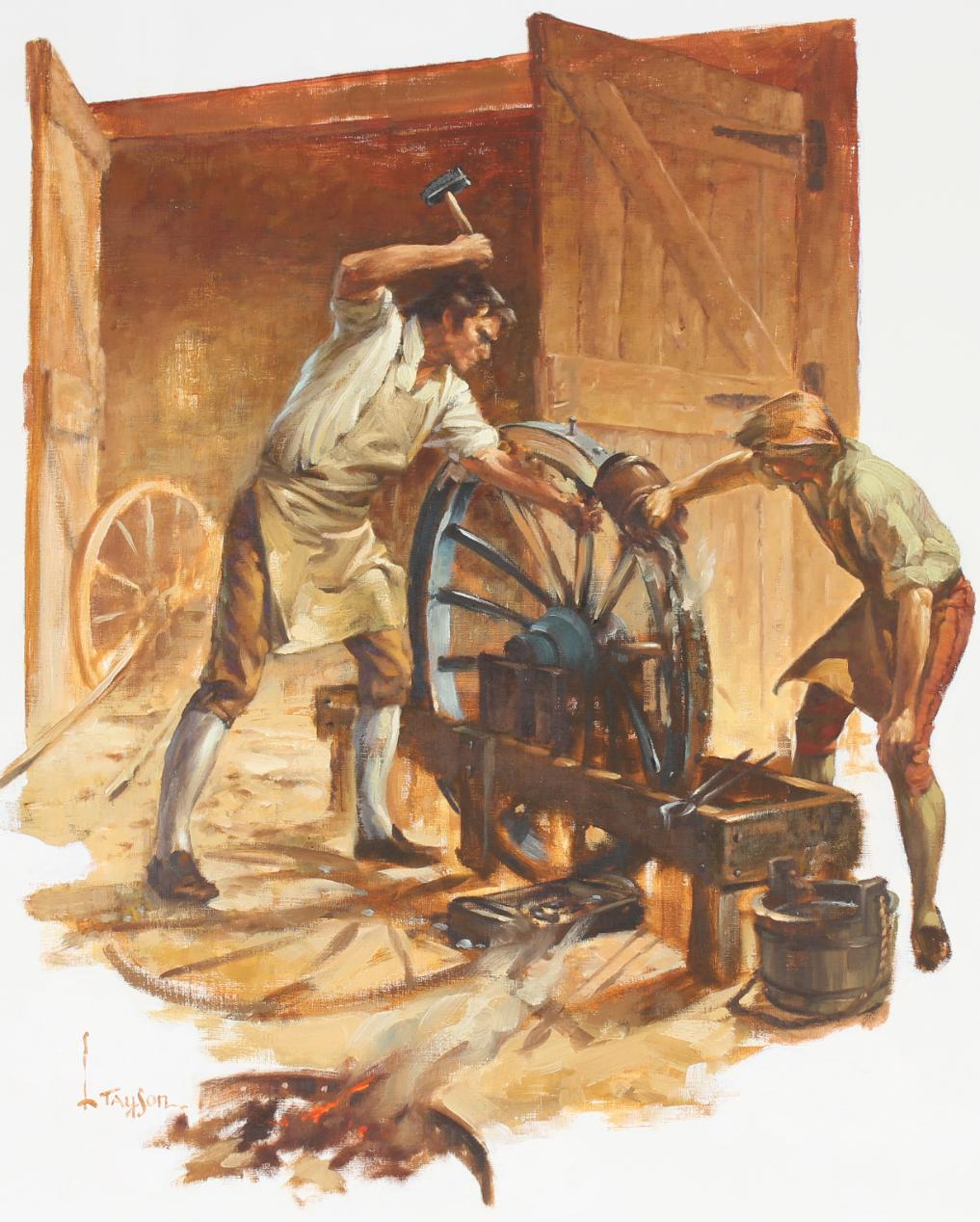 "Lyle Tayson (1924 - 2014) ""Wheelwright/Craftsmen"""
