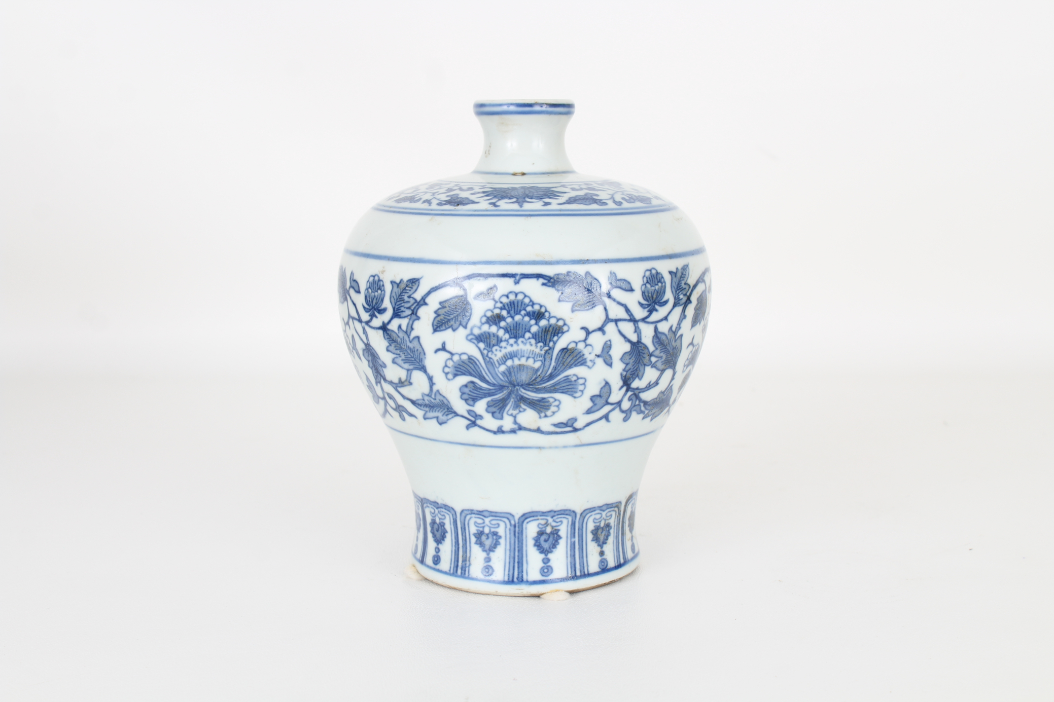 Marked, Chinese Blue and White Floral Vase