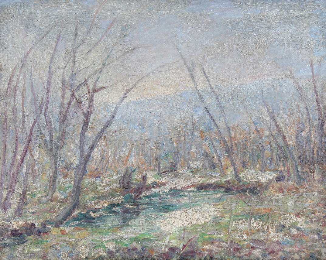 American School, Impressionist Wooded Landscape - Image 2 of 3