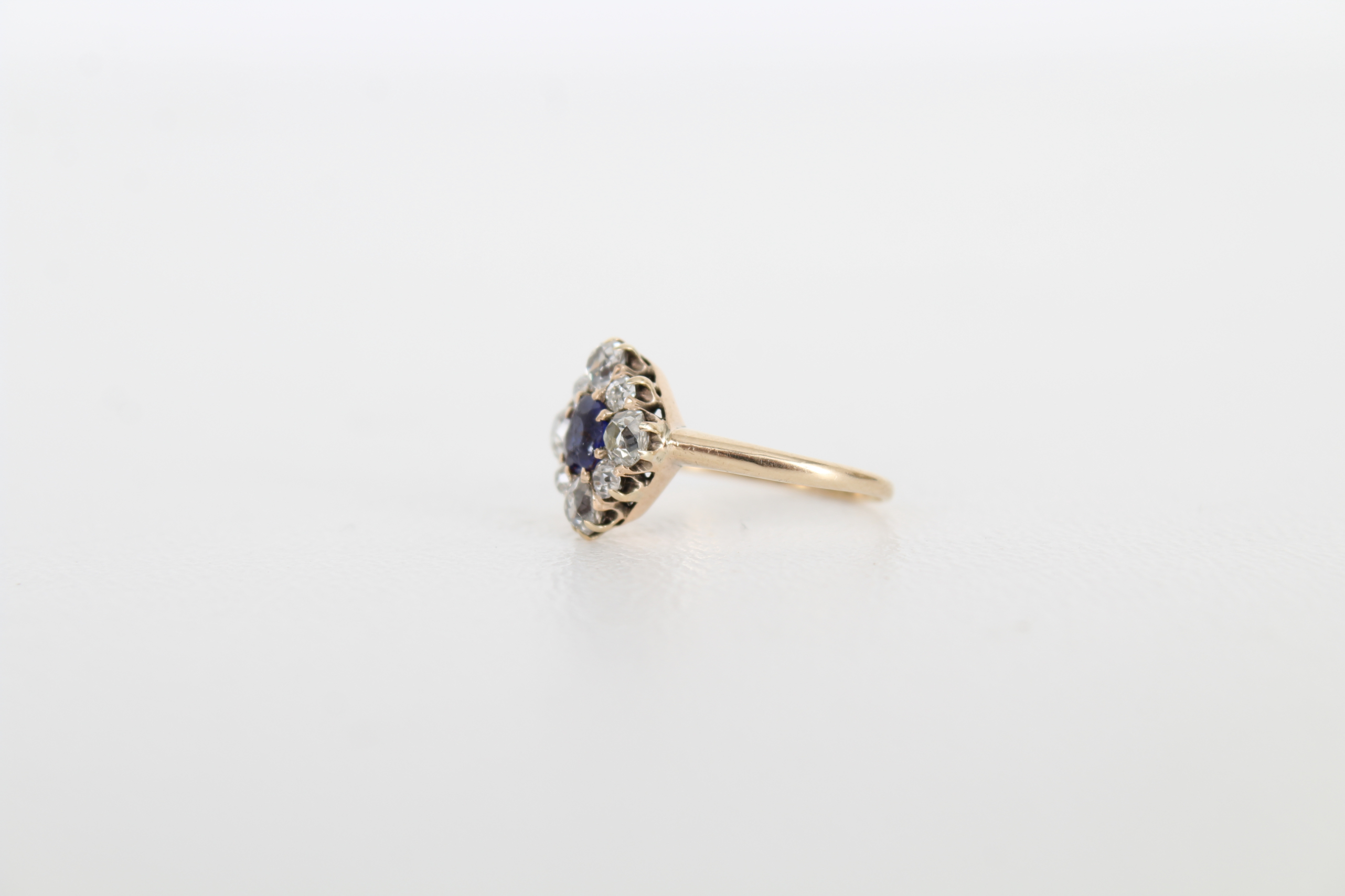 Sapphire & Diamond Petite Gold Ring - Image 3 of 6