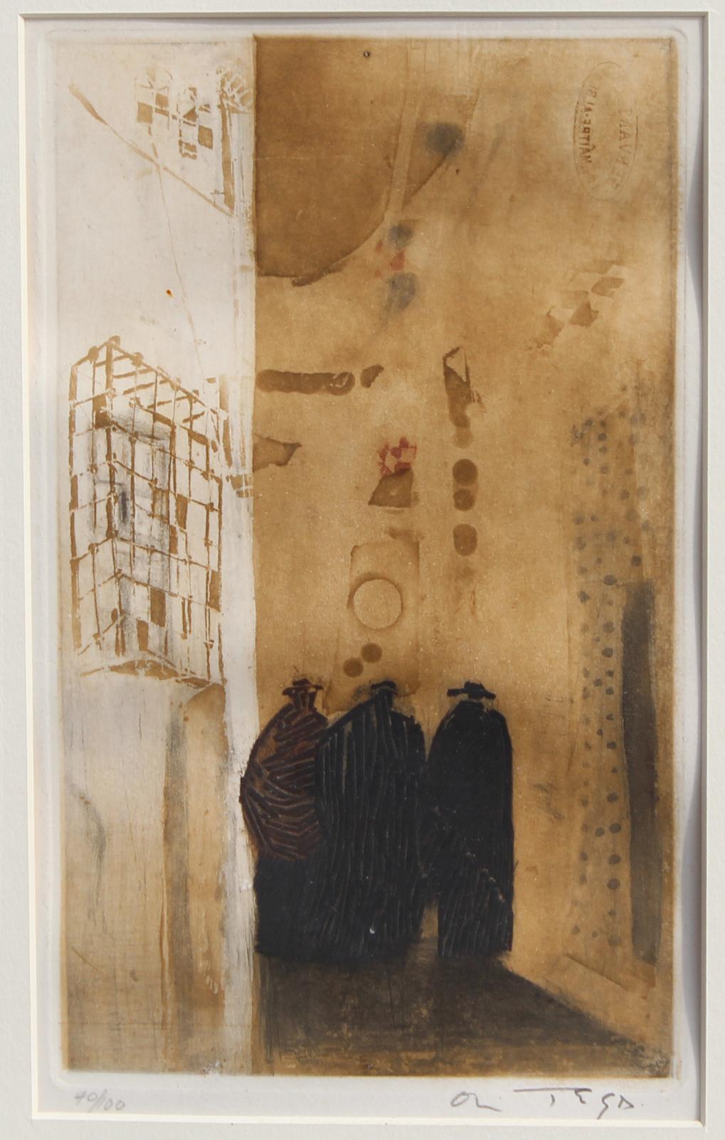 Jose Ortega (Spain, 1921- 1991) Etching - Image 2 of 3