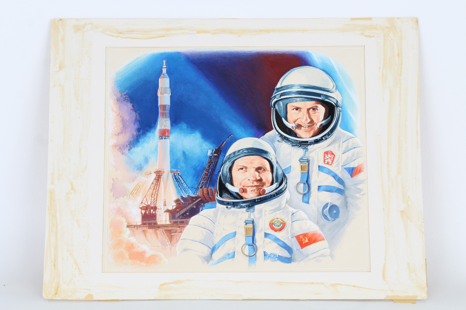 "Gherman Komlev (1933 - 2000) ""Astronauts"" - Image 2 of 3"