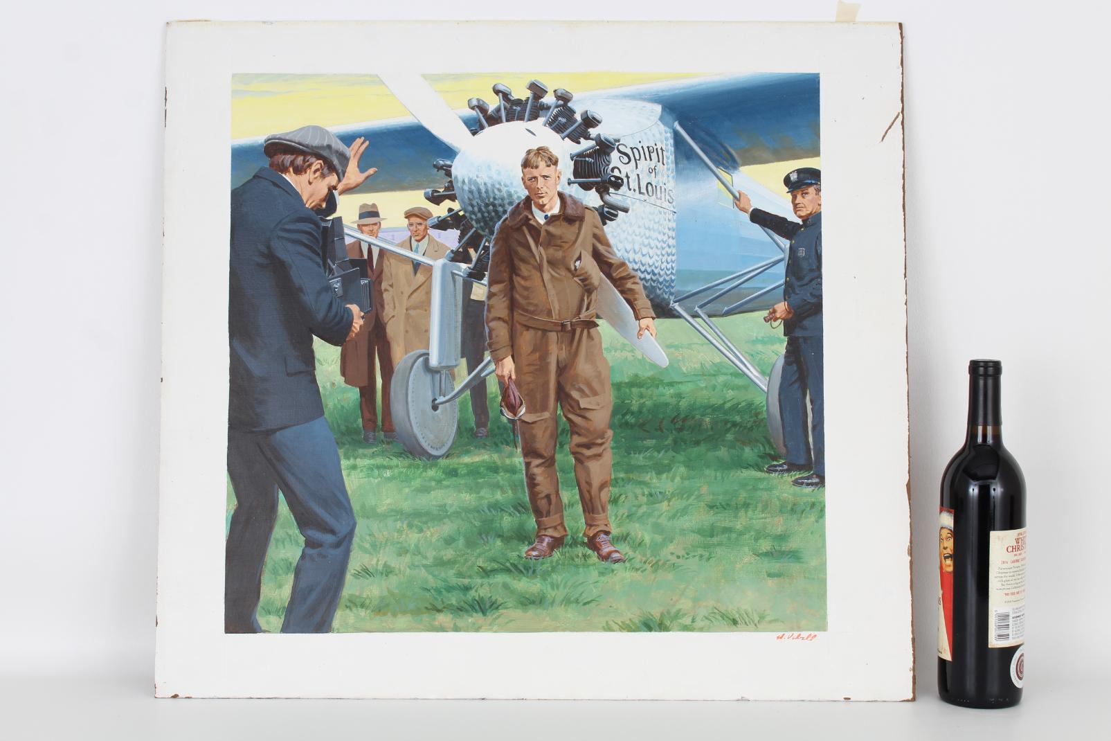 "Ed Vebell (1921 - 2018) ""Lindbergh Flight"" - Image 2 of 5"