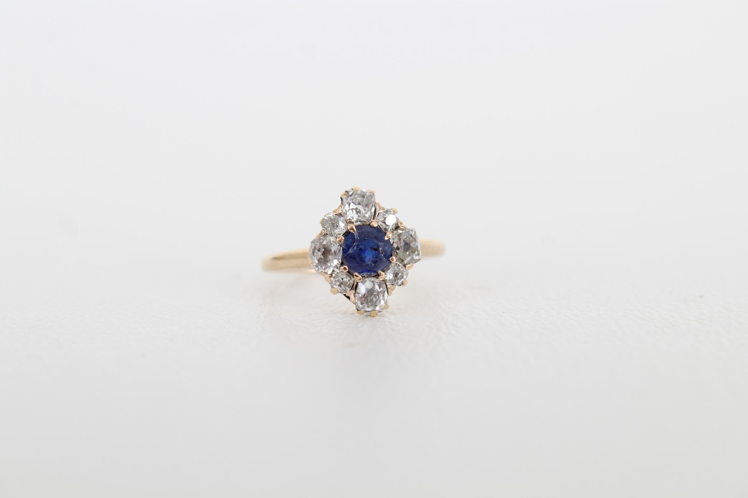 Sapphire & Diamond Petite Gold Ring