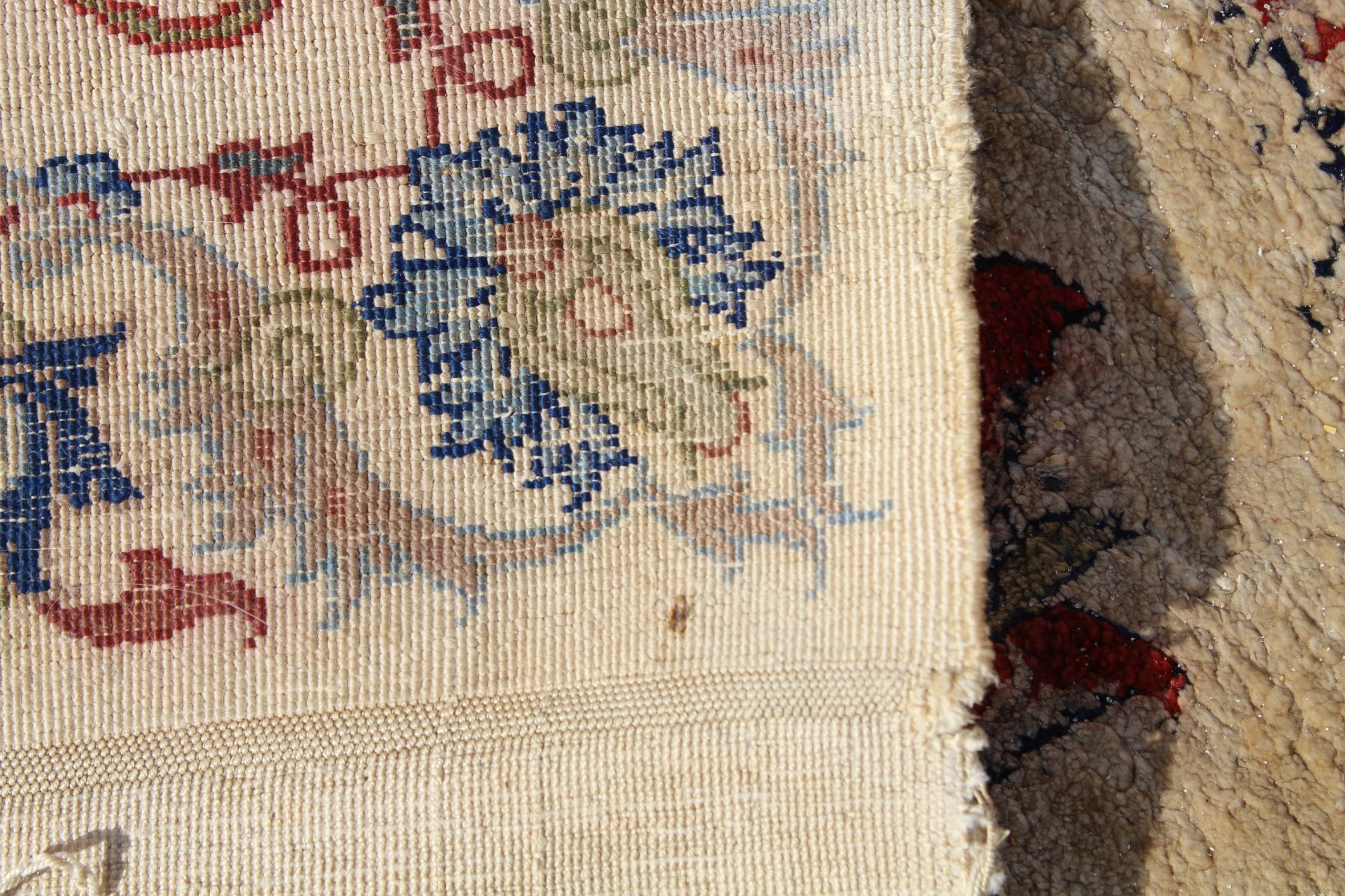 Signed, Antique Persian Silk Qum Rug - Image 4 of 4