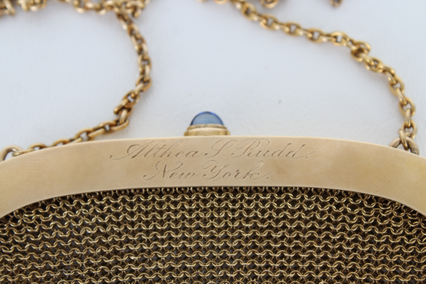 14K Gold Mesh Coin Purse w/ Diamond & Ruby Clasp - Image 6 of 6