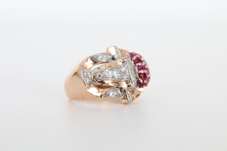 14K Ruby & Diamond Gold Ring - Image 3 of 7