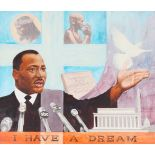 """David Stone (1922-2001) """"Martin Luther King"""" Oil"""