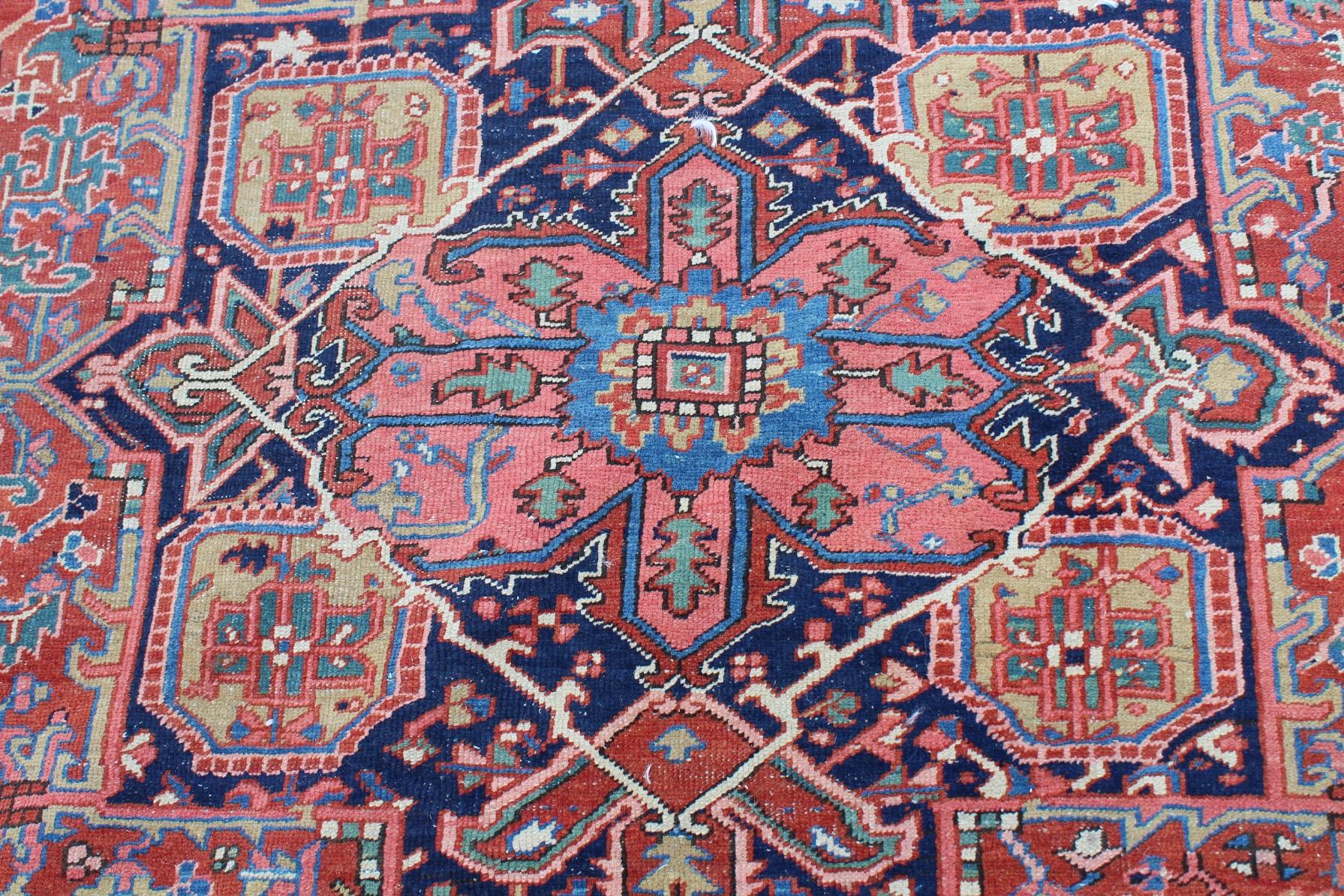 Antique Heriz Rug - Image 2 of 4