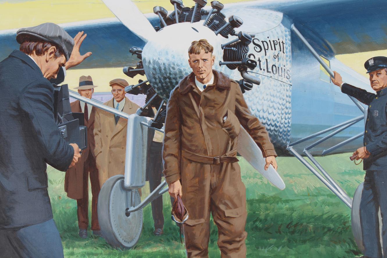 "Ed Vebell (1921 - 2018) ""Lindbergh Flight"" - Image 3 of 5"