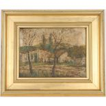 Signed, Early 20th C. Impressionist Village Scene