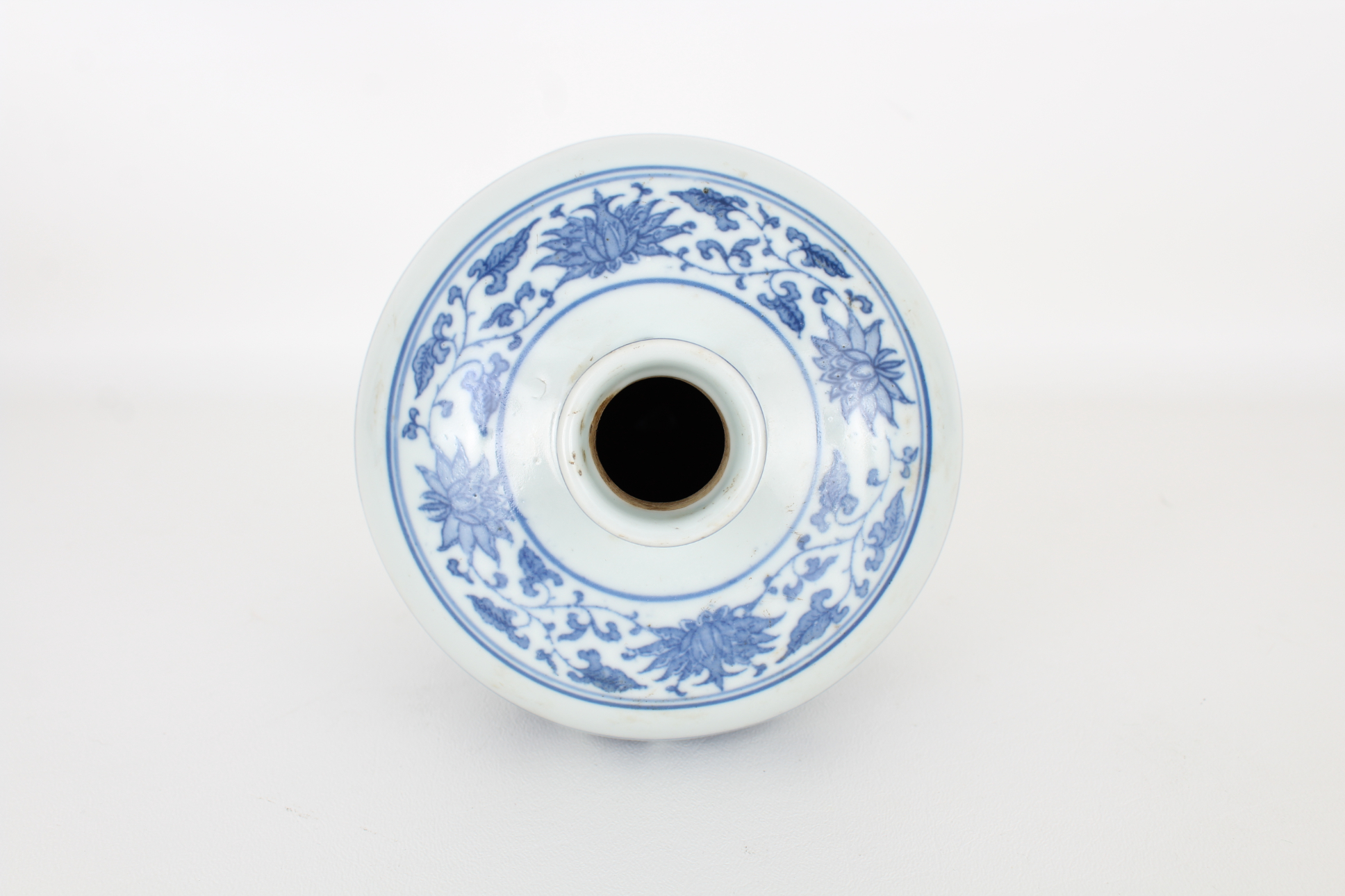Marked, Chinese Blue and White Floral Vase - Image 4 of 5