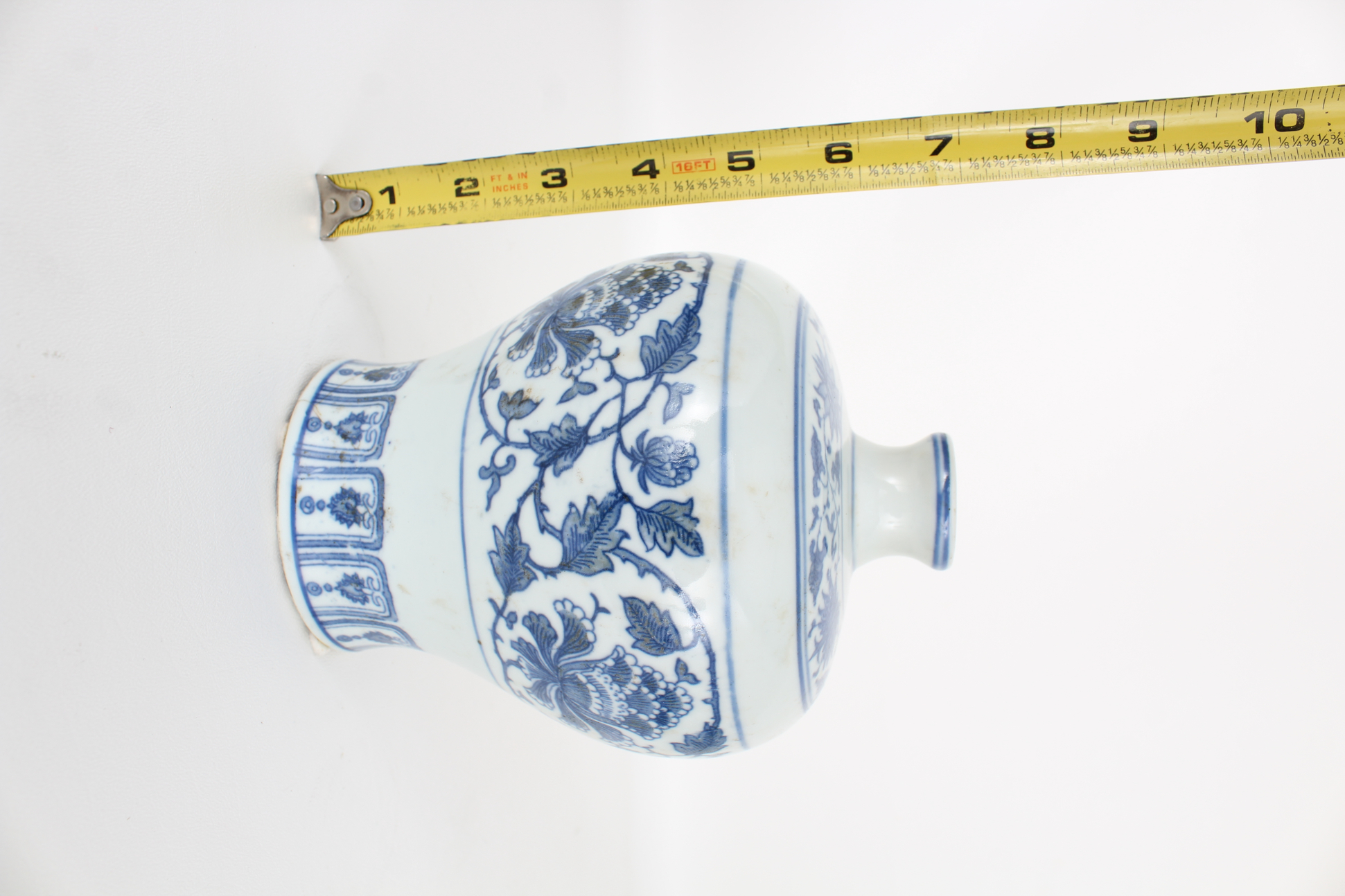 Marked, Chinese Blue and White Floral Vase - Image 3 of 5