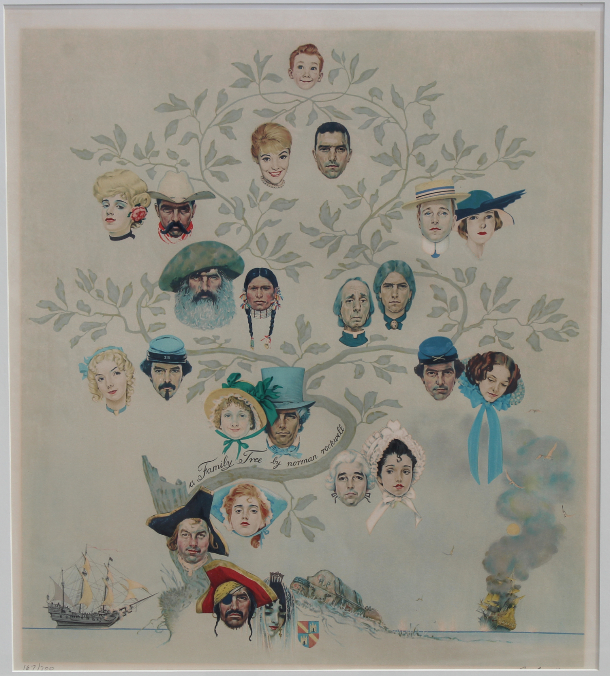 """Norman Rockwell """"Family Tree"""" - Image 2 of 5"""