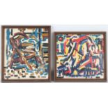 (2) Hess, Mid Century Abstract Paintings