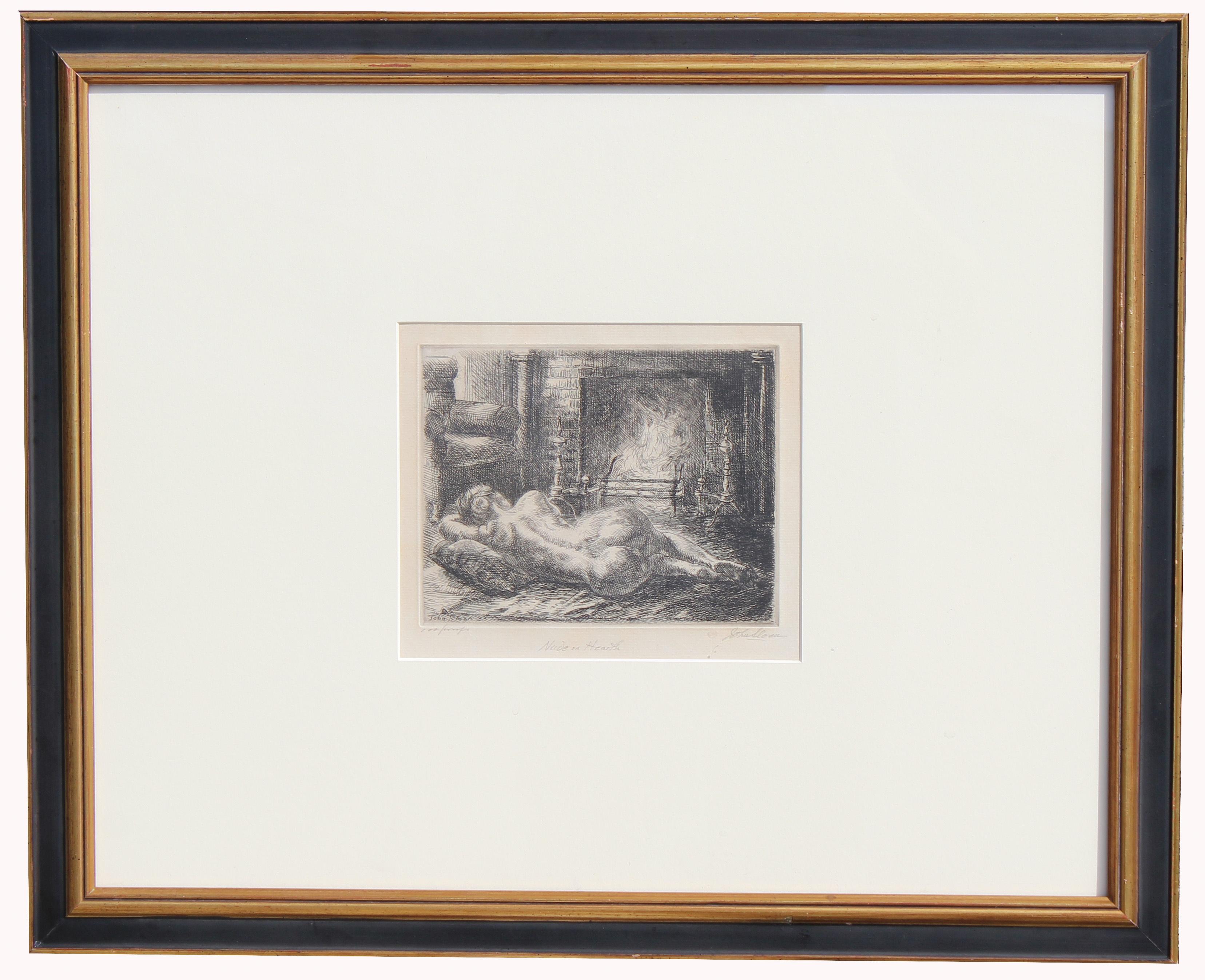 John Sloan (1871 - 1951) Nude Etching - Image 2 of 4