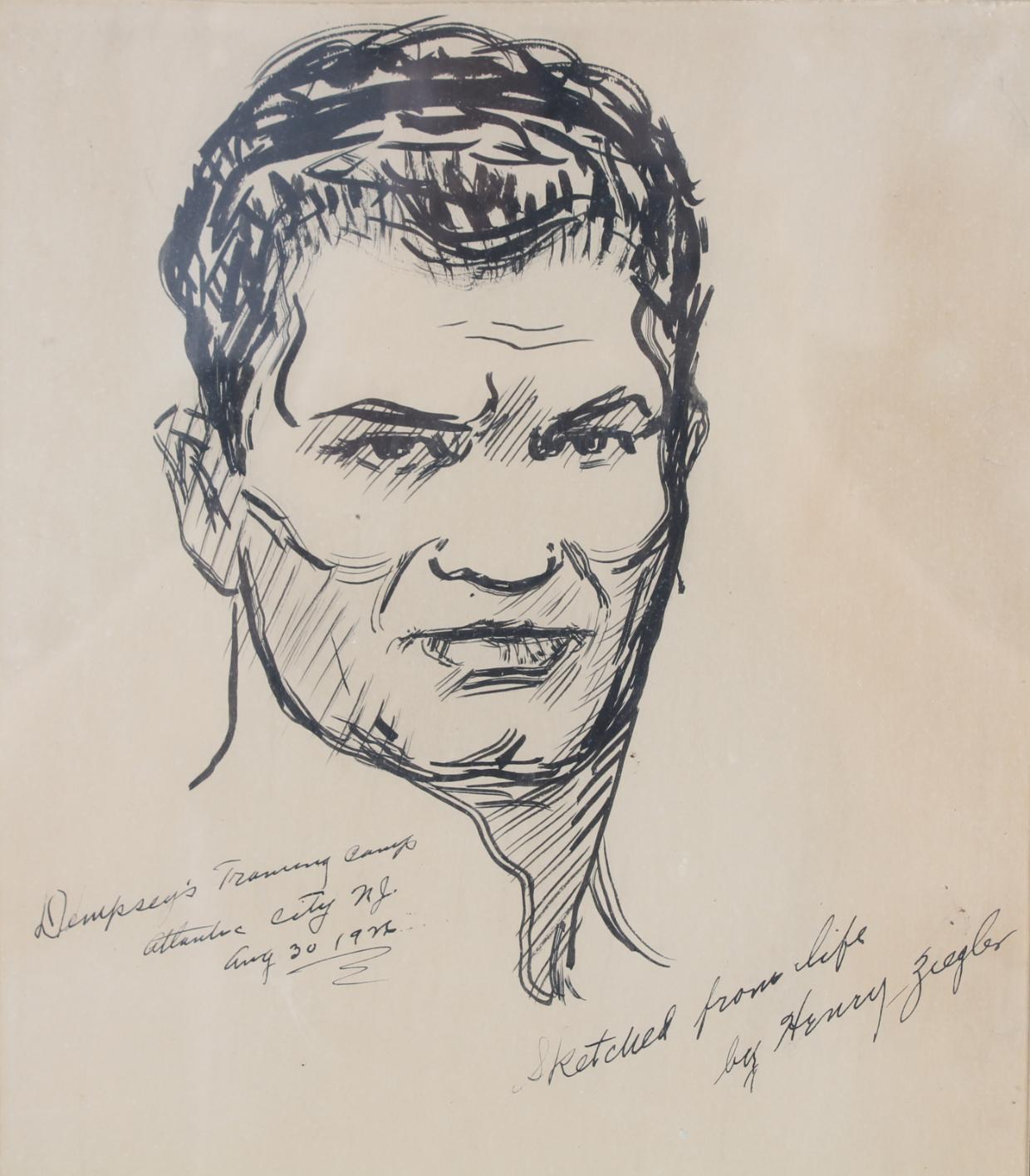 "Henry Ziegler (1889 - 1968) ""Jack Dempsey"""