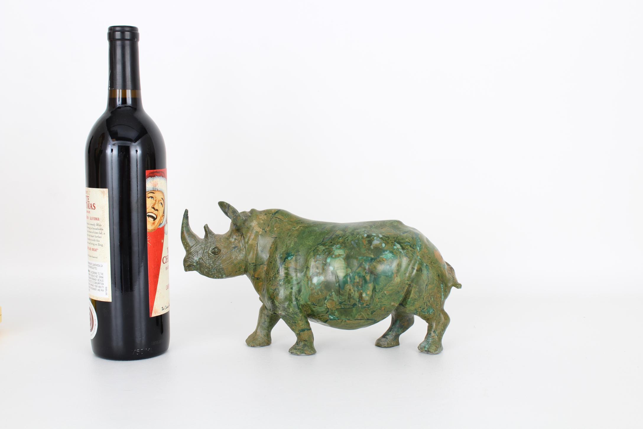 Vintage Carved Marble Rhinoceros - Image 2 of 5