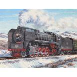 "J. Craig Thorpe (B. 1948) ""Chinese Class QJ"" Oil"