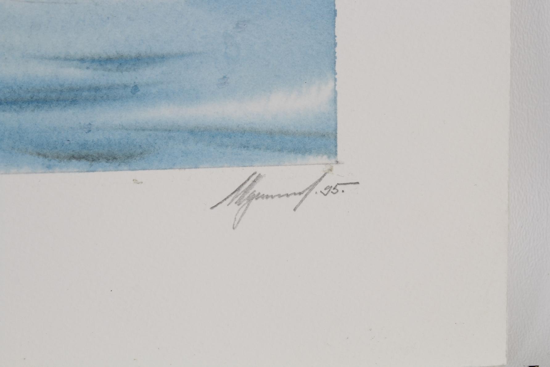 "Ivan Kozlov (B. 1937) ""Baer's Pochard"" W/C - Image 3 of 4"