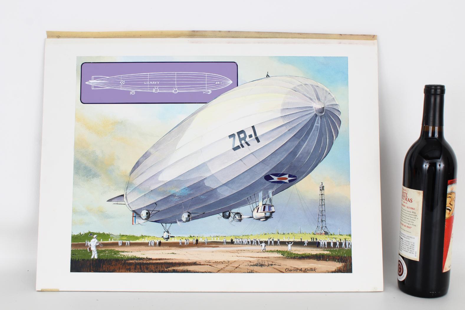 "Charles Knotek (1933 - 2008) ""US Airship"" - Image 2 of 6"