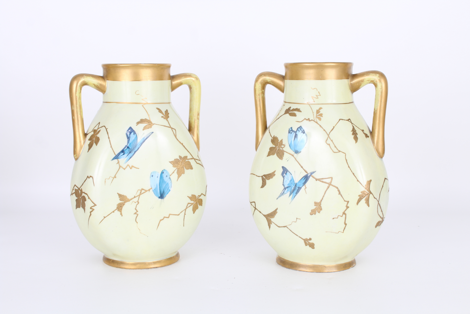 Pair, Antique French Aesthetic Period Vases - Image 2 of 3