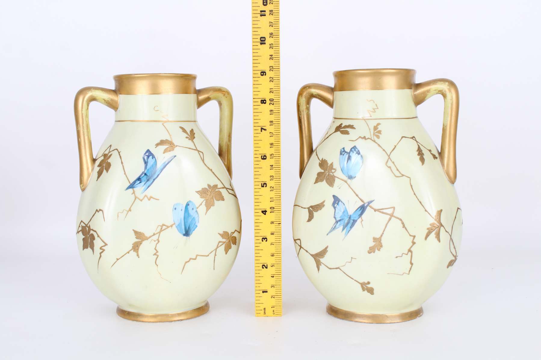Pair, Antique French Aesthetic Period Vases - Image 3 of 3