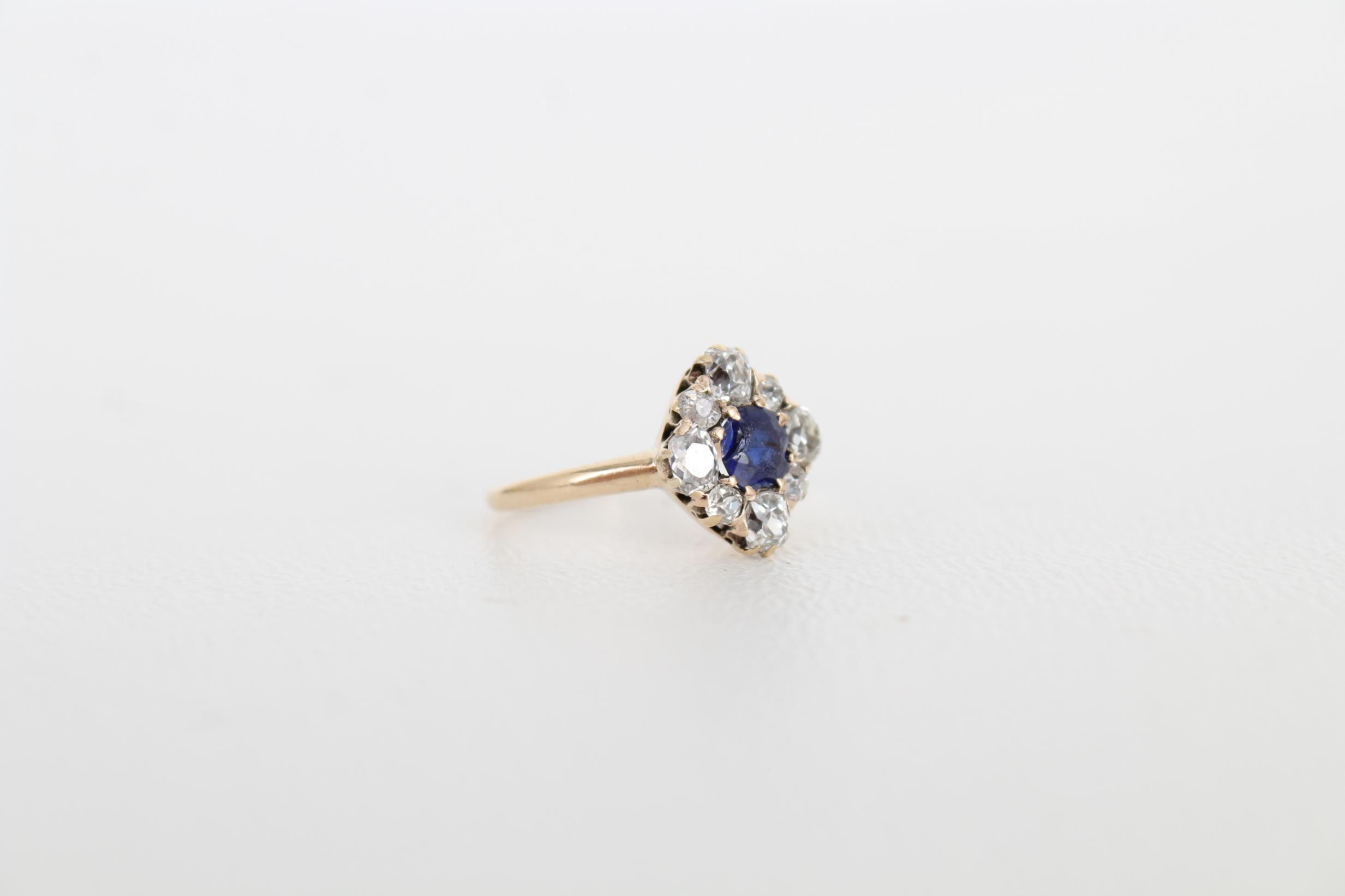 Sapphire & Diamond Petite Gold Ring - Image 5 of 6