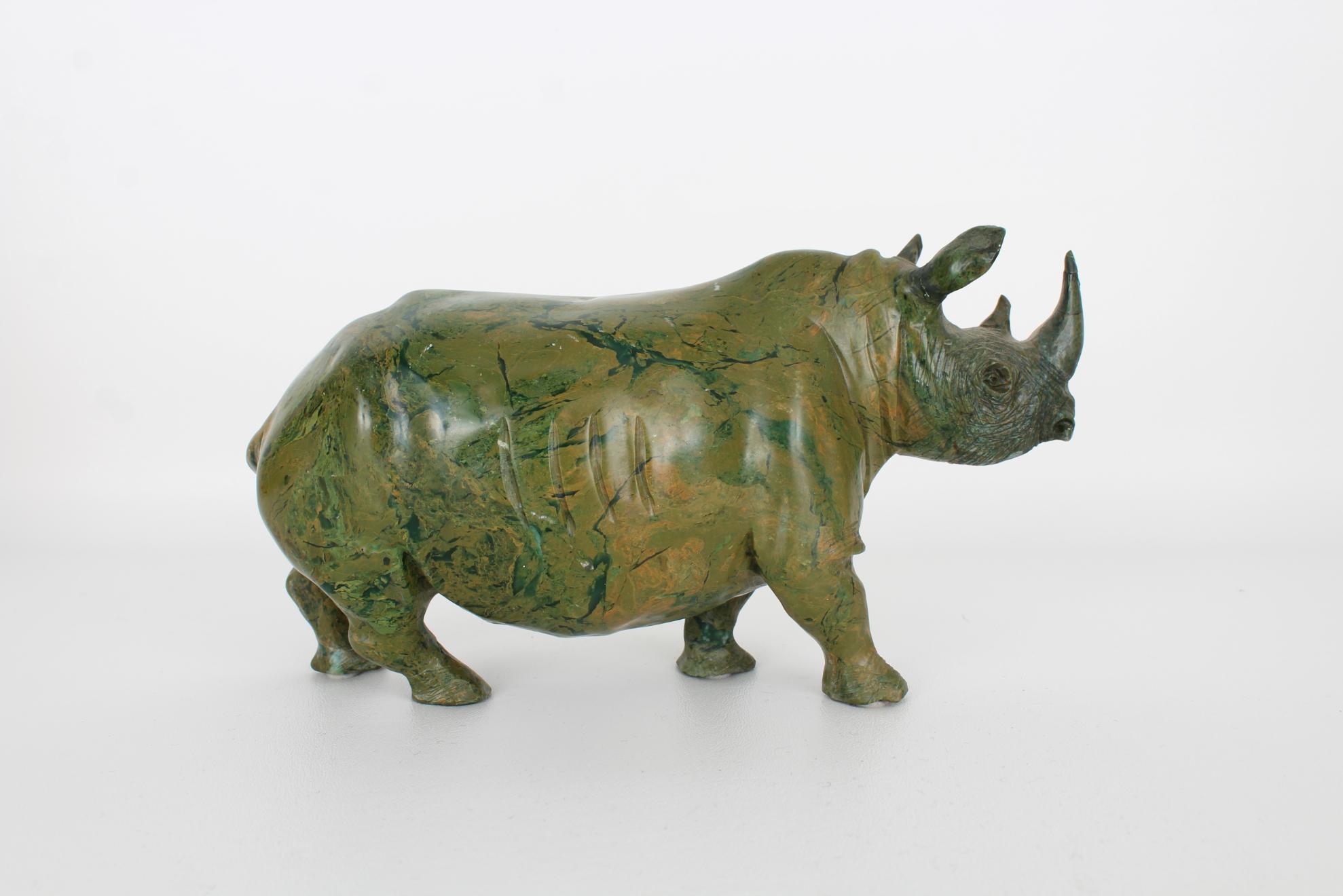 Vintage Carved Marble Rhinoceros - Image 3 of 5