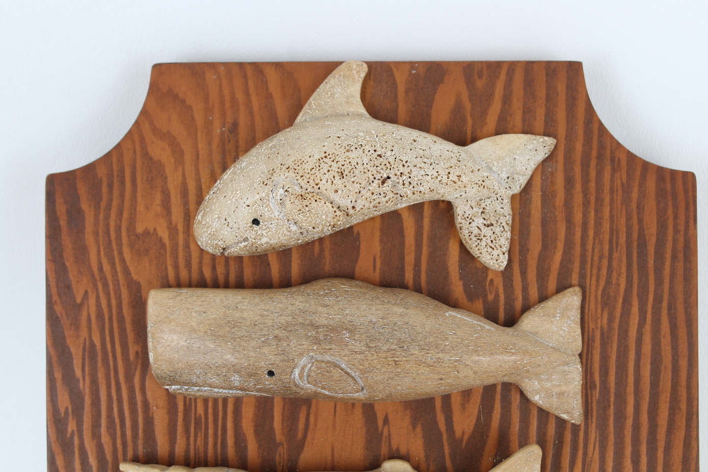 (6) Carved Stone Whale Figures - Image 2 of 4