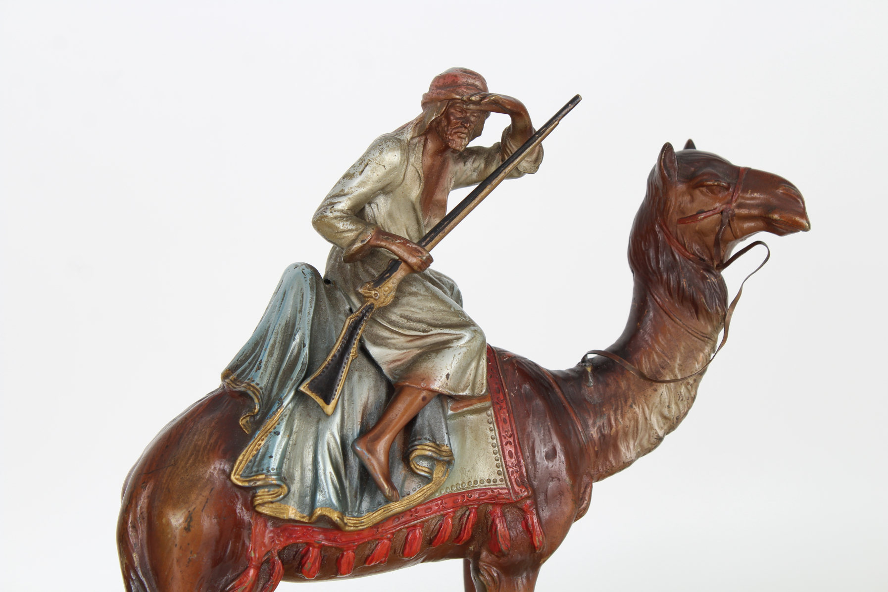 Orientalist Cold-Painted Guard on Camelback - Image 2 of 3