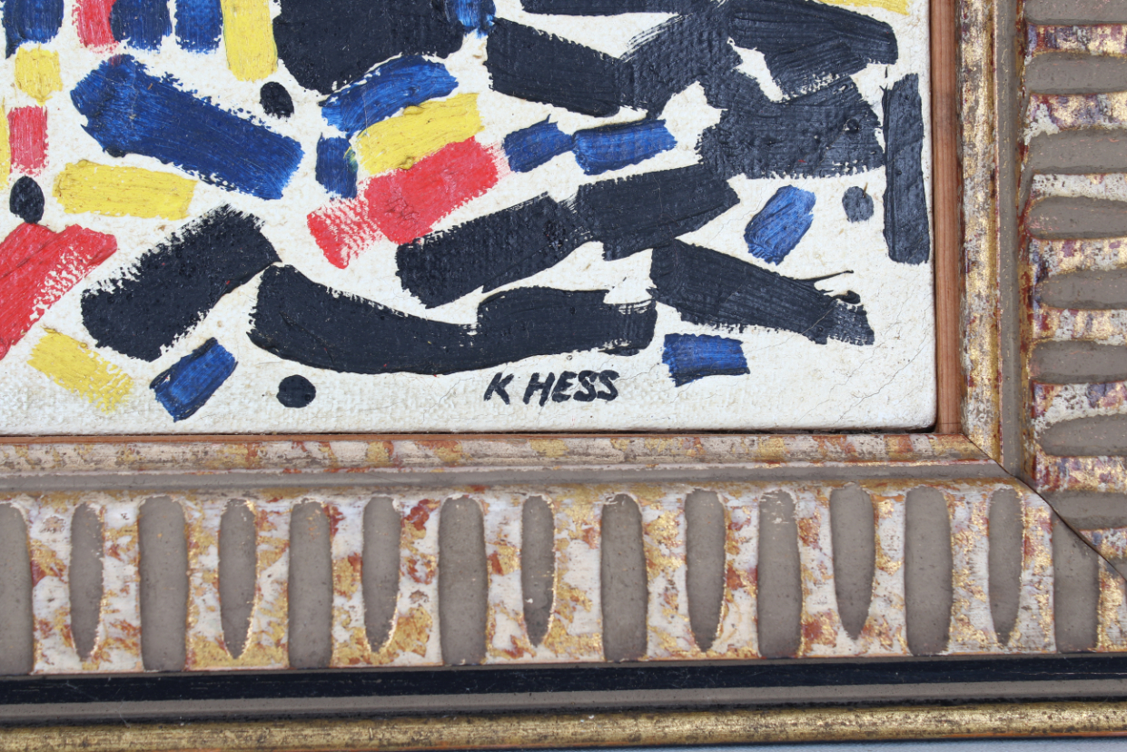 Hess, Mid Century Abstract Painting - Image 3 of 4