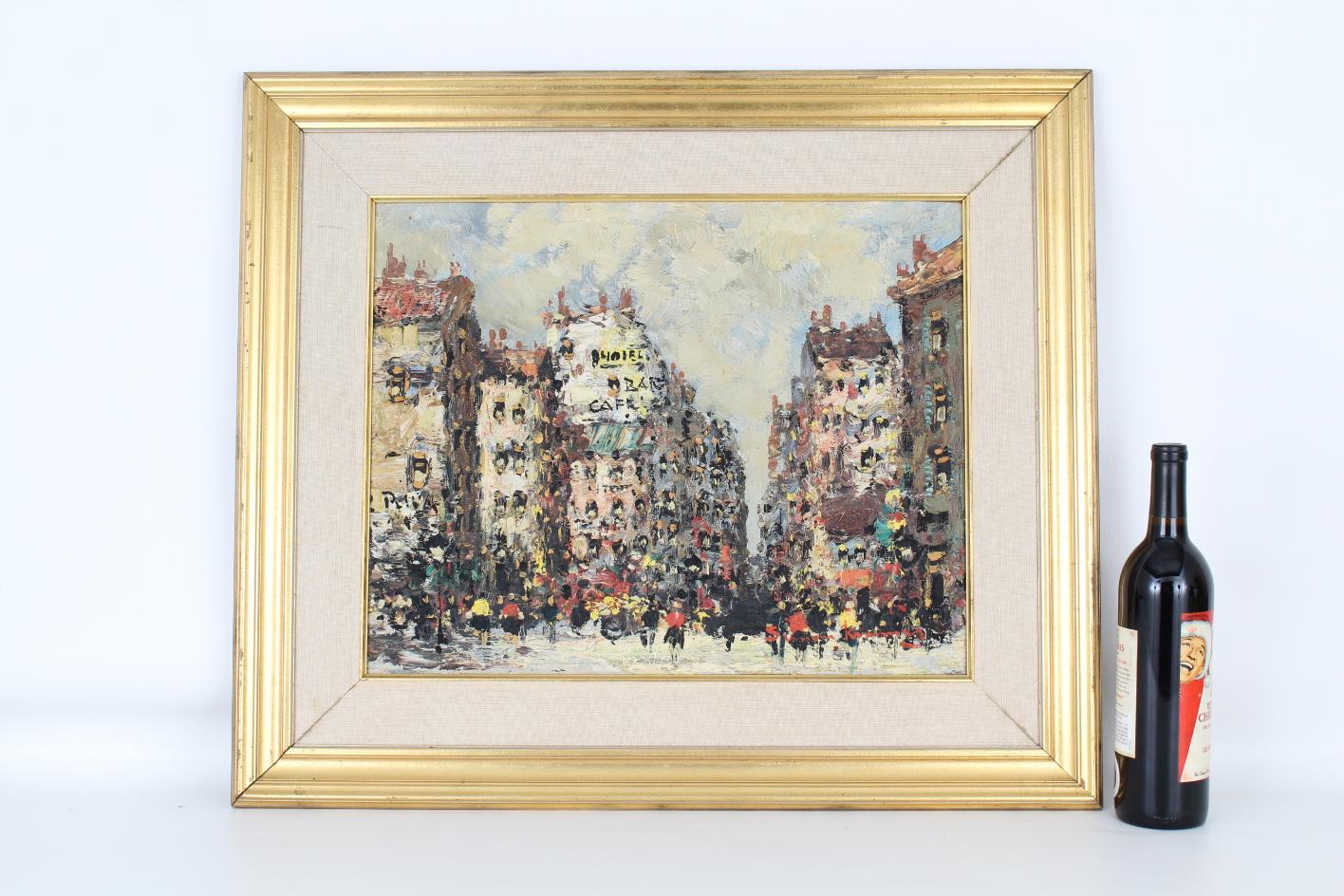Simon Kramer (Born 1940) Parisian Street Scene - Image 2 of 5