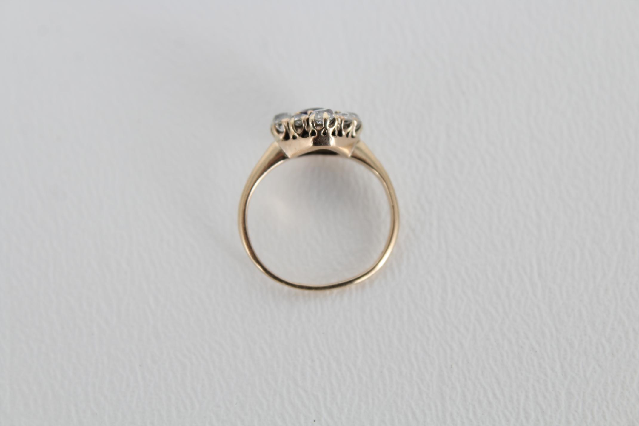 Sapphire & Diamond Petite Gold Ring - Image 6 of 6
