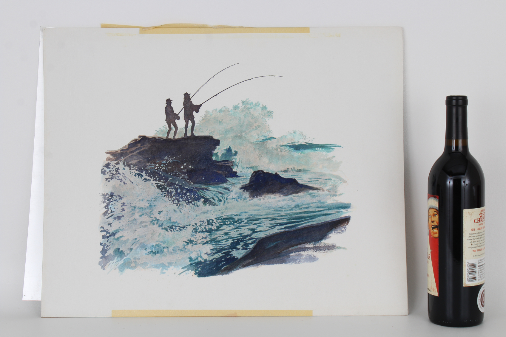 """Brian Clinton (B. 1942) """"Surf and Rock Fishing"""" WC - Image 3 of 3"""