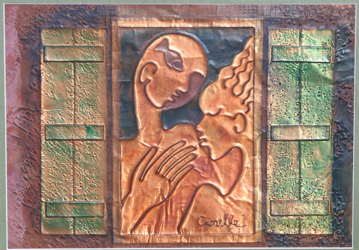 George Camille (B. 1963) Embossed Copper - Image 2 of 3
