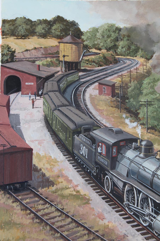 """J. Craig Thorpe (B. 1948) """"Indiana Locomotive"""" Oil - Image 3 of 5"""