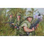 "Paul & Chris Calle ""Vietnam War"" Original"