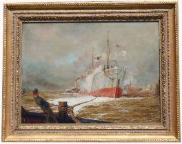 "William L Wyllie (1851 - 1931) ""Thames Arrival..."""