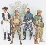 """Jim Butcher (B. 1944) """"Defenders of Freedom"""" Orig."""