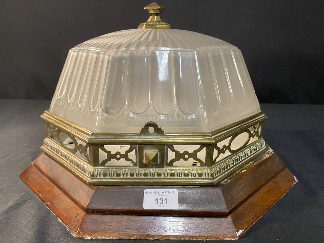 R.M.S. OLYMPIC: A superb octagonal ceiling light from the First-Class Dining Room/D Deck