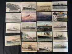 OCEAN LINER: Postcards to include Kaiser Wilhelm, Kaiser Wilhelm Der Grosse, Kronprinzessin Cecilie,