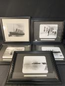 R.M.S. TITANIC: Reprinted black and white photographs from the Father Browne album, plus one other
