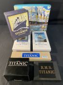 R.M.S. TITANIC: Modern collectables to include collectors cards, movie watch, jigsaw, etc.