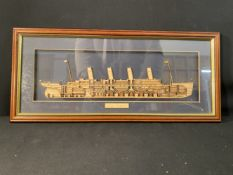 R.M.S. TITANIC: Modern collectables to include jigsaws and ceramics.