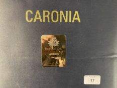 OCEAN LINER: Unusual hard bound Officers instruction book labelled 'Caronia' with label inscribed '
