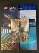 BOOKS: R.M.S. Titanic and related hard back books and magazines (8 x first editions) Titanic and Her