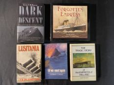 BOOKS: Mixed reference volumes relating to the Lusitania and Empress of Ireland.