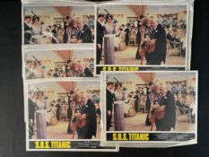 MOVIES: Collection of five sets of 'SOS Titanic' film stills. 14ins. x 11ins.