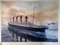 R.M.S. TITANIC: 'Grace and Glory', by Tom W. Freeman, signed by the artist. 26ins. x 34ins. With